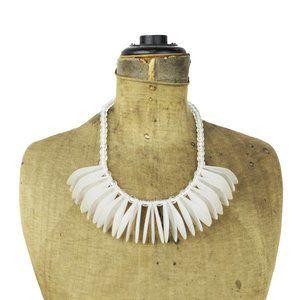 Vintage White Bib Necklace